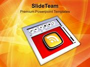 Internet_Browser_And_RSS_Symbol_PowerPoint_Templates_PPT_Themes_And_Gr
