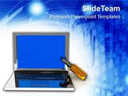 Laptop_The_Concept_Of_Information_Security_PowerPoint_Templates_PPT_Th