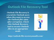 Outlook File Recovery Tool