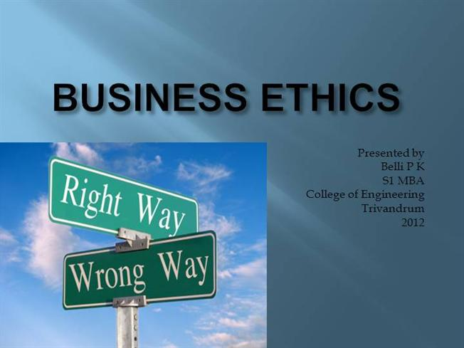 Business ethics authorstream toneelgroepblik Image collections