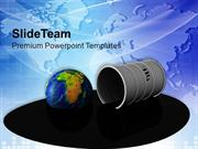 Oil_Drum_With_Spilled_Oil_Globe_PowerPoint_Templates_PPT_Themes_And_Gr