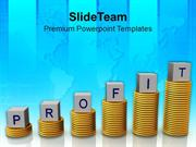 Profit_On_Stack_Of_Dollar_Coins_Business_PowerPoint_Templates_PPT_Them