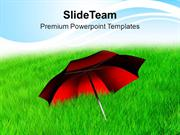 Red_Umbrella_In_Grass_Nature_PowerPoint_Templates_PPT_Themes_And_Graph