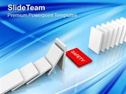 Rescue_Dominoes_Safety_Business_PowerPoint_Templates_PPT_Themes_And_Gr