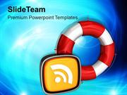 Rescue_Icon_RSS_Information_PowerPoint_Templates_PPT_Themes_And_Graphi