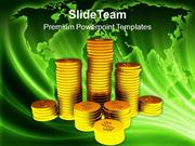 Stack_Of_Golden_Dollar_Coins_Financial_Business_PowerPoint_Templates_P