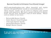Banner Stands to Enhance Your Brand Image!