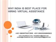 INDIA IS BEST PLACE FOR HIRING VIRTUAL ASSISTANCE