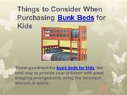 Things to Consider When Purchasing Bunk Beds for Kids | bunk beds
