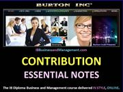 IB Business and Management - Total and Average Contribution