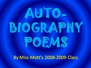 AutoBiography Poems