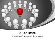 3d_People_Connected_With_An_Idea_PowerPoint_Templates_PPT_Themes_And_G
