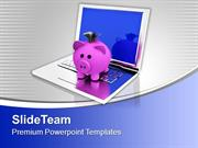 Conceptual_Image_Of_Saving_Online_Banking_PowerPoint_Templates_PPT_The