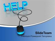 Help_With_Computer_Mouse_Metaphor_PowerPoint_Templates_PPT_Themes_And_