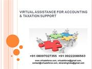 VIRTUAL ASSISTANCE FOR ACCOUNTING & TAXATION SUPPORT