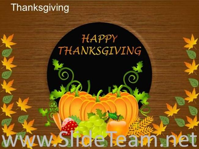 happy thanksgiving ppt template powerpoint diagram