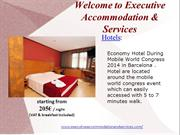 Hotels and Apartments during Mobile World Congress 2014