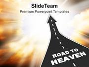 Image_Of_Road_To_Heaven_PowerPoint_Templates_PPT_Themes_And_Graphics_0