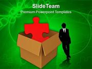 Red_Puzzle_In_Cardboard_Box_PowerPoint_Templates_PPT_Themes_And_Graphi