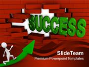 Success_Coming_Out_From_Brick_Wall_PowerPoint_Templates_PPT_Themes_And