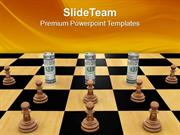 Twisted_Dollars_And_Chess_Pieces_Business_PowerPoint_Templates_PPT_The