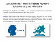 SEPA Payments – Make Corporate Payments Solutions Easy and Affordable