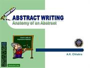 Writing an Abstract 2013