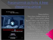 Paranormal activity 4 free streaming online