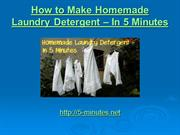 How to Make Homemade Laundry Detergent – In