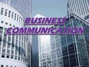 Business Comunication-a basic business presentation display