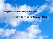 Gorgeous Prom Hairstyles for 2013