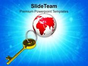 Golden_Key_And_Planet_Earth_PowerPoint_Templates_PPT_Themes_And_Graphi