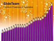 Group_Of_Pencils_Like_Bar_Graph_PowerPoint_Templates_PPT_Themes_And_Gr