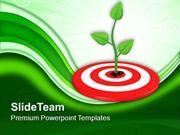Growing_Green_Plant_On_Target_PowerPoint_Templates_PPT_Themes_And_Grap