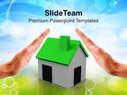 Hands_Over_A_Small_Green_House_PowerPoint_Templates_PPT_Themes_And_Gra