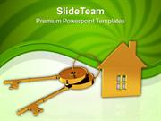 House_Connected_With_Keys_Real_Estate_PowerPoint_Templates_PPT_Themes_
