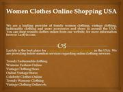 Women Clothes Online Shopping USA