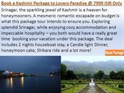 Book a Kashmir Package to Lovers Paradise