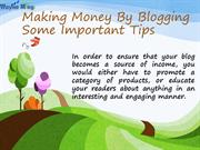 Tips To Make Money Via  Blog Writing