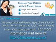 Same day 1,3,12 Month Payday Loans, Fast Loans bad credit