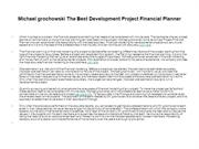 Michael grochowski The Best Development Project Financial Planner