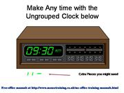Clip Art Clock shows any time