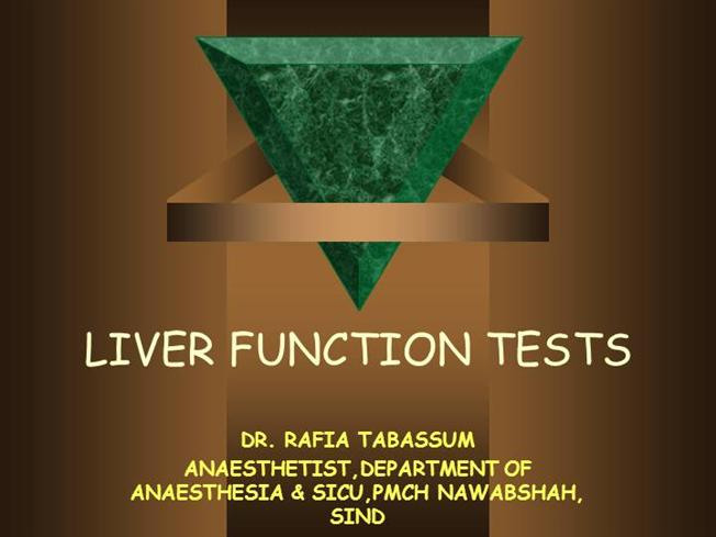 Liver Function Tests Authorstream