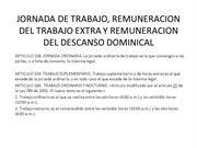 JORNADA DE TRABAJO, REMUNERACION DEL TRABAJO EXTRA