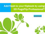 Add flash to your flipbook by using 3D PageFlip Professional