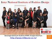 Advantages Aplenty for Students of INIFD, Koregaon Park Pune