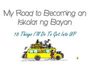 My Road to Becoming an Iskolar ng Bayan