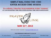 Prayerlink Tuesday May 21st 2013