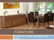Importance of dining room table in your home