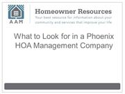 What to Look for in a Phoenix HOA Management Company